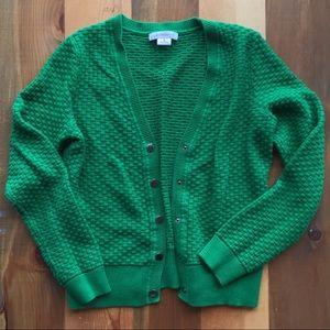 Liz Claiborne women's medium green cardigan